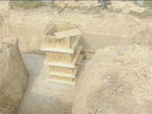 Members of Macedonia Baptist Church in Harnett County exposed two grave vaults while digging the foundation for an addition.(WRAL-TV5 News)