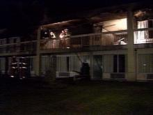 Three unoccupied rooms at this Wilson Days Inn were gutted by the fire and blast.(WRAL-TV5 News)