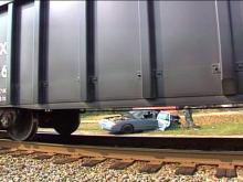 The Crown Victoria was sitting on the tracks as it was hit.(WRAL-TV5 News)