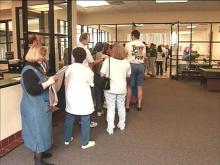 The state's new early-voting system is drawing big crowds.(WRAL-TV5 News)