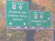Starting Nov. 15, new signs -- some with lighted directional signals -- will help shoppers get the best deal on getting into Crabtree Valley Mall.(WRAL-TV5 News)