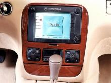 A prototype of Motorola's iRadio, which allows drivers to access e-mail, play music and navigate while in the car.(WRAL-TV5 News)