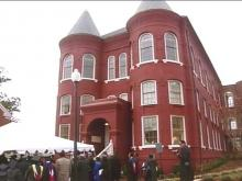 A re-opening ceremony was held Friday at Leonard Hall. Built in 1881, the building was home to the first four-year medical school in the nation.(WRAL-TV5 News)