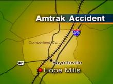 Investigators say Amtrak's Silver Palm slammed into a car parked on the tracks south of Hope Mills. The car's driver was killed.(WRAL-TV5 News)