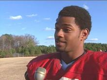 Senior Chauncey Watkins played three positions while leading the Southern Durham Spartans to a conference championship and quarterfinal berth in the state's 3-A playoffs.(WRAL-TV5 News)
