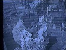 "Surveillance video shows the ""Clown Bandit"" at work in a Wayne County store.(WRAL-TV5 News)"
