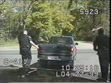 The stop was caught on tape with a police car camera.(WRAL-TV5 News)