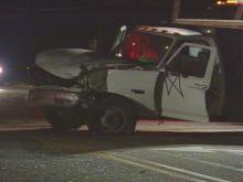 One boy died in a fatal crash involving a car and two trucks.(WRAL-TV5 News)