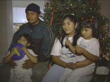The Lopez family lost everything when their mobile home burned Monday night. The family did not know where they would spend Christmas until Thursday.