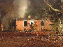 Firefighters were called out to the home on Lake Wheeler Road just after midnight.(WRAL-TV5 News)