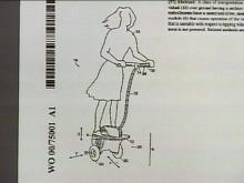 Is IT a scooter? This is a drawing from one of Kamen's recent patent applications.(WRAL-TV5 News)