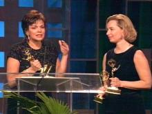 Five On Your Side's Monica Laliberte and Lori Lair accept their Emmy in Nashville.(WRAL-TV5 News)