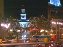 Dozens of Christmas lights line the streets of downtown Fayetteville, and the decorations will not be coming down anytime soon. City leaders hope the lights will brighten up the future for downtown.(WRAL-TV5 News)