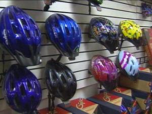 A Fayetteville legislator wants to require helmets for children riding bicycles statewide.(WRAL-TV5 News)