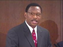 NCCU Chancellor-Elect Dr. James Ammons speaks Friday.(WRAL-TV5 News)