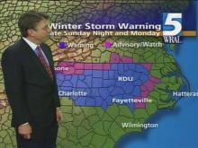There is a possibility of freezing weather heading to the Triangle sometime early Monday morning.(WRAL-TV5 News)