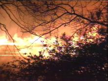 The fire left 24 families homeless.(WRAL-TV5 News)