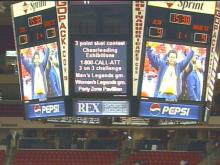 When you go to the ESA, the entertainment is not just on the ice or the hardwoods. The jumbotron at the ESA provides entertainment for the fans.(WRAL-TV5 News)