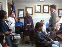 Teenagers speak with New Hanover County Sen. Patrick Ballentine.(WRAL-TV5 News)