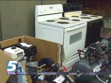 Two stoves and a brand new pressure washer are among the items being auctioned off by the Durham Police Department.(WRAL-TV5 News)