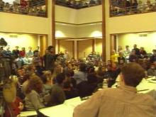 Faculty, Students Pack Duke University's Campus To Debate Newspaper Ad