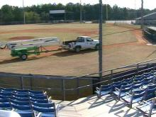 While Cumberland County is bracing for cutbacks and layoffs, J.P. Riddle Stadium is getting a whole new look.(WRAL-TV5 News)