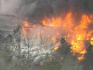 The West Pharmaceutical plant in Kinston was consumed by fire on Jan. 29, 2003.