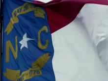 North Carolina flag, NC flag, state flag, N.C. flag