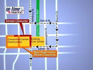 raleigh downtown roads closed map
