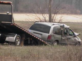 woman shot in minivan
