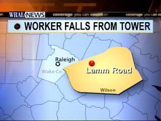 worker falls from cell phone tower map