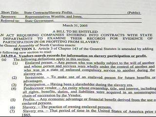 Slavery Business Bill