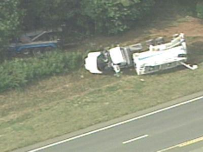 Overturned Truck in Chatham County