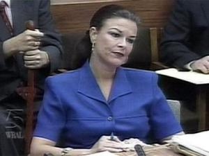 Freda Black during the 2003 high-profile murder trial of Michael Peterson.