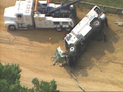 tanker truck us 1 flipped