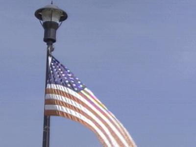 fuquay flag from light pole