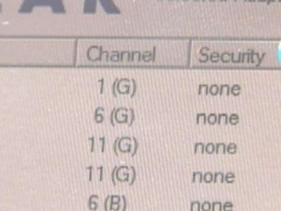 No Network Security