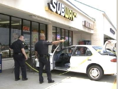 car into subway restaurant