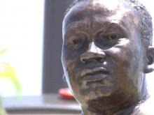 A statue of civil rights leader Martin Luther King, Jr. was removed from a Rocky Mount park in 2005 amidst controversy over its likeness to King.