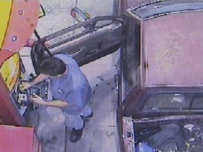 Man Steals Cash From Gas Pump Machines