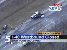 truck fuel spill I-40