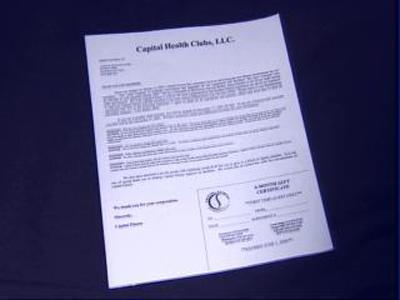 Capital Fitness Letter