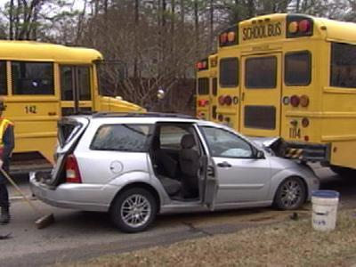School Bus - Car Accident