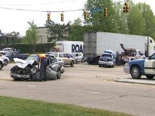 police car crash raleigh