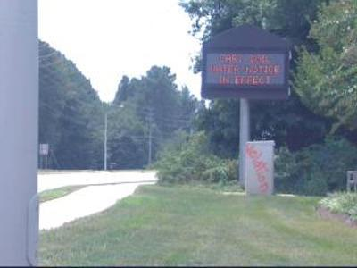 Vandalized Cary Sign