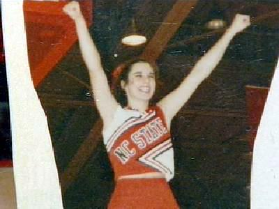 Michelle Young was a cheerleader at North Carolina State University.