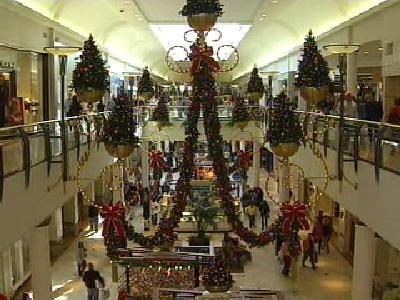 The halls of Crabtree Valley Mall in north Raleigh were decked with boughs of greenery on the day after Thanksgiving.