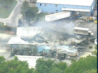 The following images were taken from WRAL's Sky5 about 5 p.m. Friday, Oct. 6, 2006. Shown is the EQ facility in Apex.