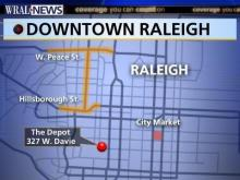 Downtown Raleigh Depot Map