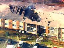 A fire gutted several apartments at 243 Wesville Court in Raleigh.